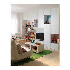 Besta Bookshelves, cupboards and open shelves - all are a must if youre looking for plenty of space to tidy away everyday clutter in a small living room. Storage units by Ikea. Living Pequeños, Home Living Room, Small Living, Living Room Designs, Hemnes, Cube Ikea, Ikea Cubbies, Ikea Us, Living Room Storage