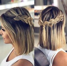 25 atemberaubende Prom-Frisuren für kurzes Haar 25 stunning prom hairstyles for short hair, 25 Beautiful Promenade Hairstyles for Brief Hair Tonight is a prom night and you must attend, but you are worried about your … Easy Updo Hairstyles, Prom Hairstyles For Short Hair, Braids For Short Hair, Trendy Hairstyles, Braided Hairstyles For Short Hair, Braids For Medium Length Hair, Hairstyle Ideas, Teenage Hairstyles, Easy Hairstyles For Everyday