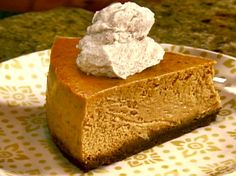 Gina's Pumpkin Cheesecake Recipe : Patrick and Gina Neely : Food Network - FoodNetwork.com