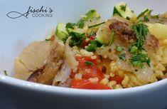 fisciscooking, eblypfanne, seelachs Bunt, Risotto, Ethnic Recipes, Food, Mediterranean Kitchen, Fish, Food Food, Rezepte, Meals