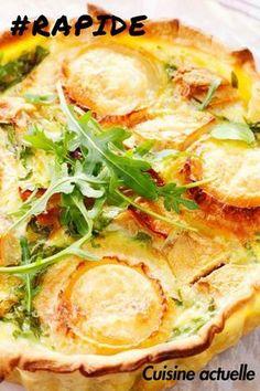 Une quiche aux pommes et au chèvre rapide pour se régaler ! #cuisineactuelle #recetterapide #tarte #chèvre #pommedeterre #repasenfamille #piquenique #quiche