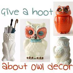 owls home decor | Home Decor DIY Furnishings Interior Design and Furniture