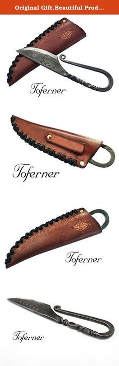 Original Gift,Beautiful Product Celtic Knife - Hand Forged Knife - Sports- Hand Made Genuine Leather Case- Polished & Hardened Blade - Art Collection- Antiquity.Idea- By Toferner . Celtic knife with a fixed blade, hand-forged, 14260 spring steel, features all the optimal traits that knives should have! Sharp pointed blade, polished and hardened-There is no way that this blade will ever bend! Forged in an aerodynamic design, for better accuracy and balance! The knife comes with a splendid...