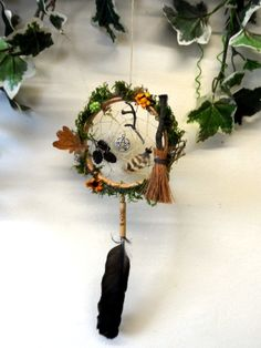 Mabon woodland Dreamcatcher Hand Made with Love by Rowan Duxbury. Find me on my : 'Positively Pagan Crafts ' Facebook page.