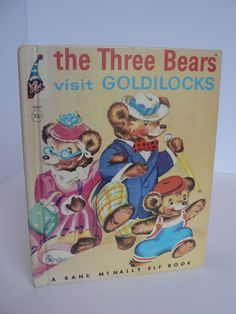 1950 The Three Bears Visit Goldilocks - Rand McNally Elf Book - Vintage Illustrated Children's Book - First Edition by VendibleFancies on Etsy