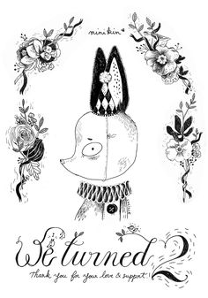 Un ancien dessin réalisé pour les 2 ans de la boutique M I N I K I N*