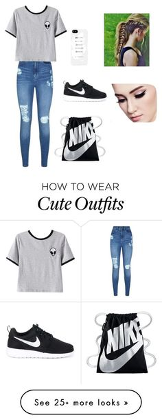 """amusement park outfit "" by kimisoccer on Polyvore featuring Lipsy, Chicnova Fashion and NIKE"