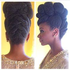 Natural hair up style
