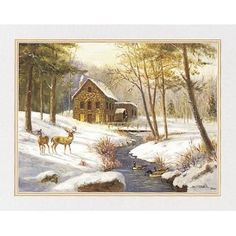 Country Cabin Deer Prints Home Decor Art Pictures  bywallsthatspeak