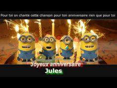 MINIONS - Joyeux anniversaire personnalisé - (Jules)