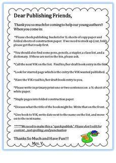 Classroom Publishing Volunteer Guide-printable