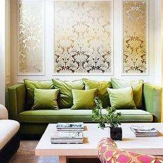 Entrance hall on pinterest metallic wallpaper for Apple green living room ideas