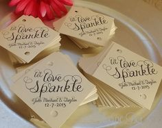Let love sparkle. Sparkler tags. Sold here https://www.etsy.com/listing/170819858/