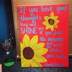 Love the sunflowers with a coral background! Maybe not this specific quote though.