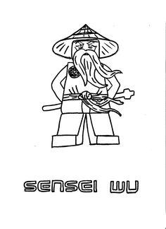 Kleurplaat Ninjago Sensei Wu