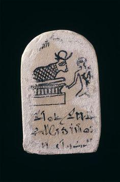 Réunion des Musées Nationaux-Grand Palais -Stele de Sèrapeum Menphis nom de Pareiraa