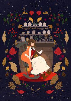 Art And Illustration, Pretty Art, Cute Art, Stock Design, Aesthetic Art, Beautiful Artwork, Fantasy Art, Anime Art, Art Drawings