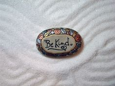 Stone Poem...Hand Painted stone with a message.  via Etsy.