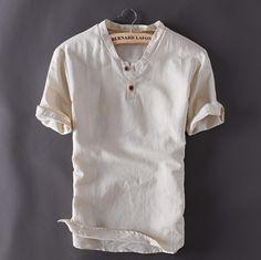 Contemporary New-Age Summer Linen Shirt