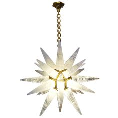 Contemporary Rock-Crystal Chandelier | From a unique collection of antique and modern chandeliers and pendants  at https://www.1stdibs.com/furniture/lighting/chandeliers-pendant-lights/