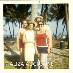 Vintage //  Color Photo // 2 Couples In Miami by foundphotogallery