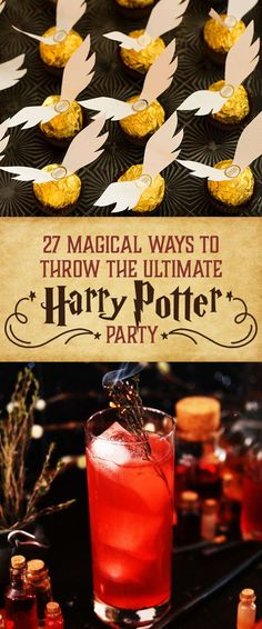 Need Harry Potter food for a birthday party or movie night? These Harry Potter recipes are perfect for wizards of every age! Baby Harry Potter, Harry Potter Motto Party, Harry Potter Fiesta, Cumpleaños Harry Potter, Harry Potter Halloween Party, Harry Potter Wedding, Harry Potter Christmas, Harry Potter Themed Party, Harry Potter Adult Party