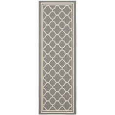 @Overstock.com - Safavieh Anthracite Grey/ Beige Indoor Outdoor Rug (2'2 x 14') - Place this indoor/outdoor runner rug in any area that needs a touch of comfort. This rug from Safavieh features an elegant bordered pattern and is resistant to the effects of weather, making it as ideal for your veranda as it is for your hallway.  http://www.overstock.com/Home-Garden/Safavieh-Anthracite-Grey-Beige-Indoor-Outdoor-Rug-22-x-14/7358557/product.html?CID=214117 $55.03