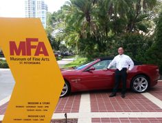 """Maserati of Tampa is at the Museum of Fine Arts, St. Petersburg, Florida's """"A Colorful Party"""". If you're at the event, be sure to take a picture with our 2013 #GranTurismo Cabrio. 07.11.13"""