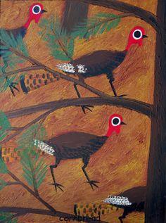 turkeys by john cornbread anderson. love those eyes.