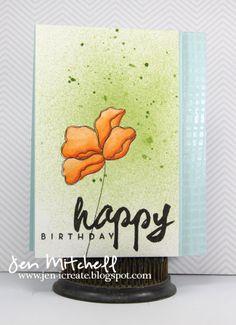 I Create, birthday card, jen-icreate.blogspot.com