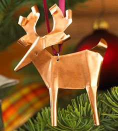 Transform a thin sheet of copper into this beautiful reindeer ornament!