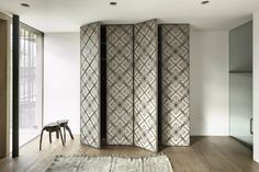 Rustic House Design in Austria: Unique Closet Door Decal Cozy Rustic House Interior Furniture Wood House Design, Rustic Home Design, Rustic Style, Room Partition Wall, Room Partitions, Divider Design, House In The Woods, Planer, Decor Styles