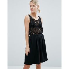 Storm & Marie Cadence Crochet Lace Vest Top (57 CAD) ❤ liked on Polyvore featuring tops, black, lacy tank tops, crochet lace tank top, relaxed fit tops, metallic tank and lace tank