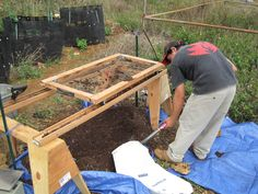 Making compost from discarded farm produce at Ho farms with Dr. Ted Radovich of CTAHR Sustainable and Organic Agriculture Program