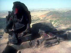 Ganesh statue on top of Siddheshwar Peak -
