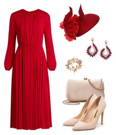 """Без названия #442"" by lisenkobk ❤ liked on Polyvore featuring Valentino, Philip Treacy, LC Lauren Conrad, Rupert Sanderson, Effy Jewelry and Bling Jewelry"