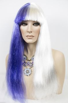 White Deep Violet Fun Color Long Straight Costume Fun Color Wigs (ebay link) Wigs For Sale, Deep, Costumes, Fun, Ebay, Color, Products, Dress Up Clothes, Fancy Dress