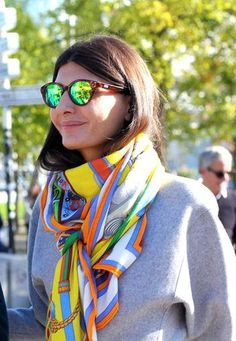 ff932704c07f How to tie a scarf  wrapped and layered