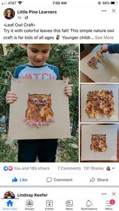 Owl Crafts, Autumn Theme, Autumn Leaves, Ps, Fall, Simple, Color, Autumn, Fall Leaves