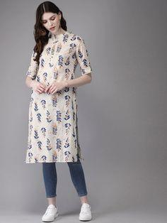 Simple Kurta Designs, Kurta Designs Women, Blouse Designs, Stylish Dresses For Girls, Stylish Dress Designs, Ladies Kurti Design, Girls Fashion Clothes, Fashion Outfits, Casual Indian Fashion