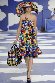 ...not sure what to think... JC de Castelbajac's LEGO Fashion Hits the Runway