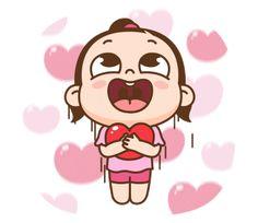 ★카카오톡 '쥐방울은 오늘도 맑음!'이모티콘 오픈★ : 네이버 블로그 Cute Cartoon Characters, Cute Cartoon Pictures, Cute Love Cartoons, Cartoon Gifs, Gif Pictures, Cartoon Art, Cute Love Pictures, Cute Love Gif, Emoji Happy Face