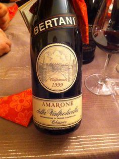 Amarone Bertani 1999. Direi fantastico !