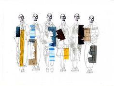 Fashion Illustration Ideas Fashion illustration by Sophie Bateson - Mise En Page Portfolio, Fashion Portfolio Layout, Fashion Design Sketchbook, Fashion Sketches, Fashion Illustration Collage, Illustration Mode, Fashion Collage, Fashion Art, Fashion Illustrations