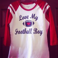 Custom football shirt mom shirt love my football boy
