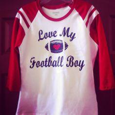 Custom football shirt mom shirt love my football boy