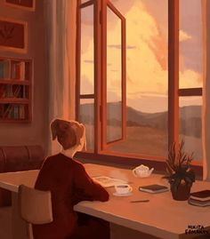 Art And Illustration, Anime Scenery Wallpaper, Cartoon Wallpaper, Landscape Wallpaper, Aesthetic Art, Aesthetic Anime, Anim Gif, Alone Art, Animated Love Images