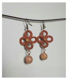 Crochet earrings and beads