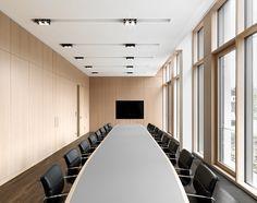Image 17 of 33 from gallery of Joachim Herz Foundation / Kitzmann Architekten. Photograph by Kitzmann Architekten With Heiner Leiska Room Interior Design, Commercial Interiors, Office Interiors, Lighting Design, Planer, Stairs, Architecture, Gallery, Table