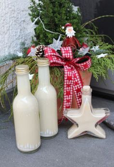 Marzipanlikör Thermomix-Rezept To Go, Creative, Homemade, Table Decorations, Christmas Ornaments, Holiday Decor, Cocktails, Home Decor, Winter